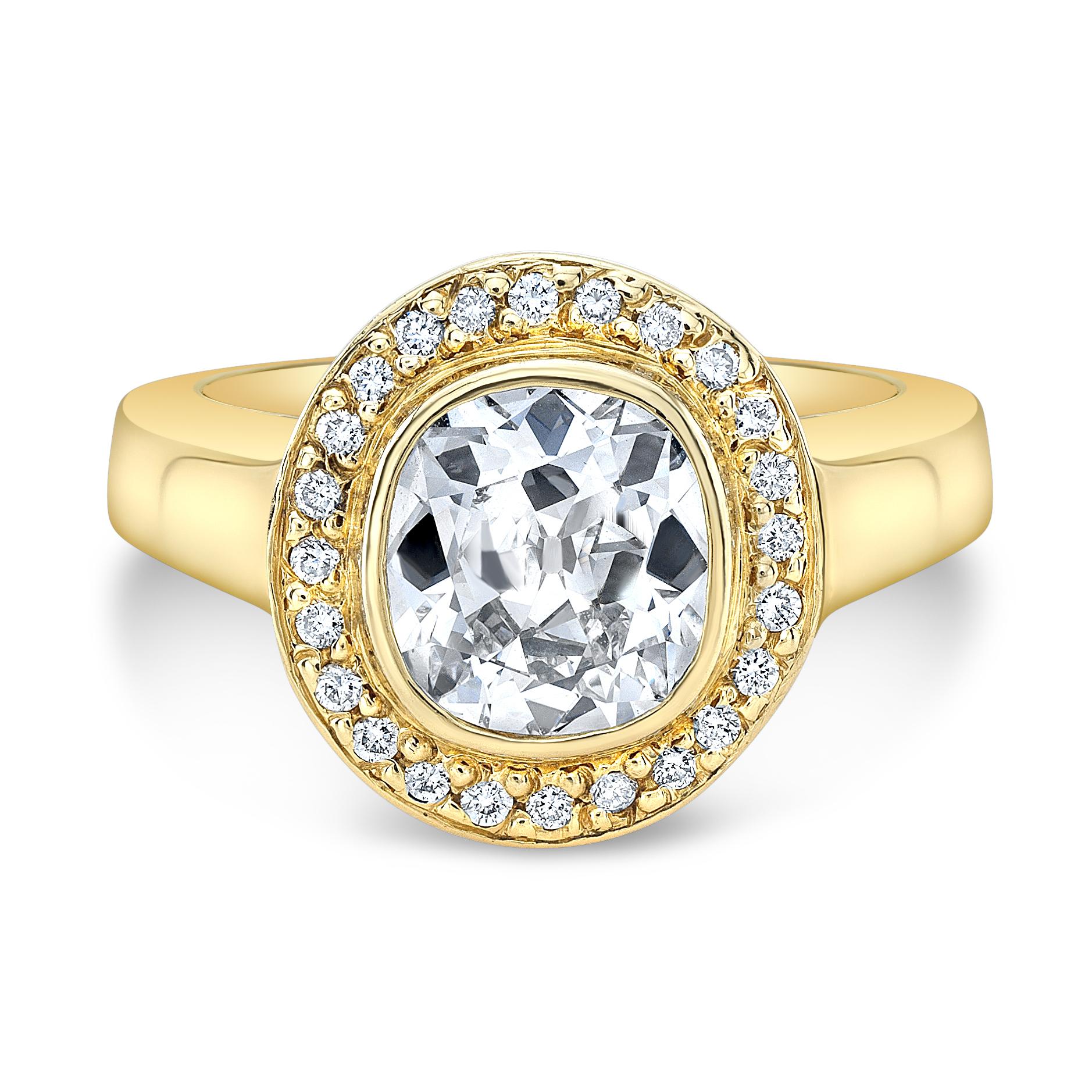 diamond encrusted ring