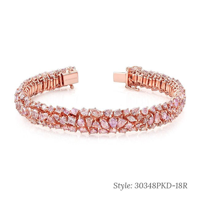 rose gold diamond encrusted bracelet